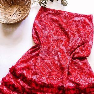 Miguelina | Designer Pink Paisley Skirt